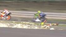 MotoGp, la caduta di Iannone in Qatar