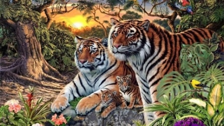 Quante tigri vedi in questa foto? Il quiz fa impazzire il web