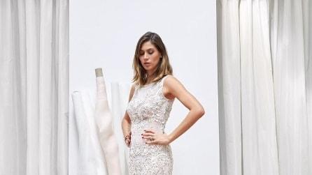 Melissa Satta sceglie l'abito da sposa e condivide l'emozione sui social