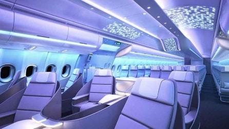 Tecnologia, comfort e spazi enormi: ecco il nuovo design Airbus