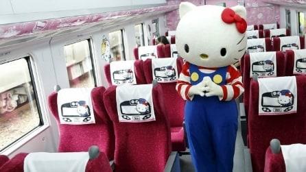 Viaggio intorno al mondo sul primo treno a tema Hello Kitty