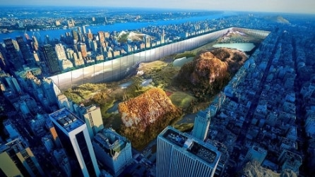Central Park diventa una voragine, cento piani più giù