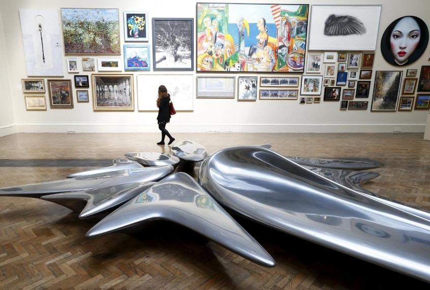 """La scultura """"Kloris"""" alla Summer Exhibition at the Royal Academy of Arts in central London, June 5, 2013. REUTERS/Andrew Winning/Files"""