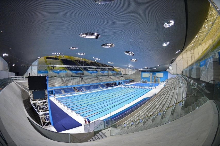 Aquatics Centre at the Olympic Park in Stratford, London 2012 Olympic Games, in east London July 19, 2012. REUTERS/Toby Melville/Files