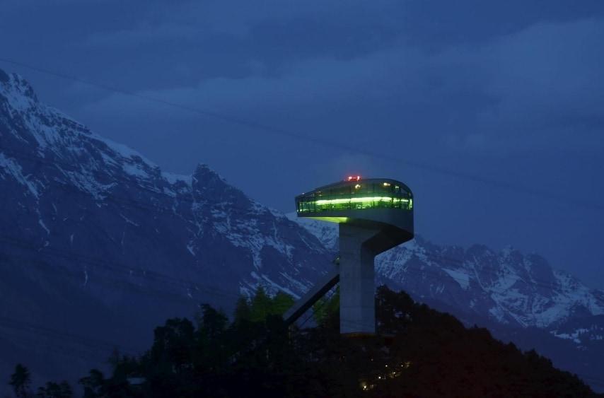 Ski jumping hill in Innsbruck, Austria March 31, 2016. REUTERS/Dominic Ebenbichler/Files