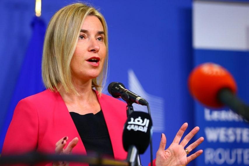 La Mogherini viene nominata ministro degli affari Esteri nel febbraio del 2014, carica che lascia dal primo novembre dello stesso anno per diventare Alta rappresentante dell'Unione per gli affari esteri e la politica di sicurezza, Lady Pesc.