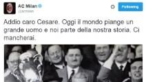 L'omaggio del Milan e del calcio italiano