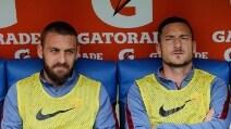 Totti e De Rossi, derby dalla panchina
