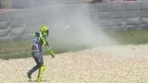 MotoGP, la caduta di Valentino Rossi ad Austin