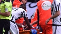 Marchisio, infortunio al ginocchio: esce in barella