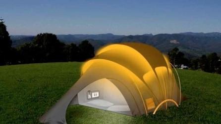 Calore, ellettricità e internet in tenda: la bellissima idea per il campeggio