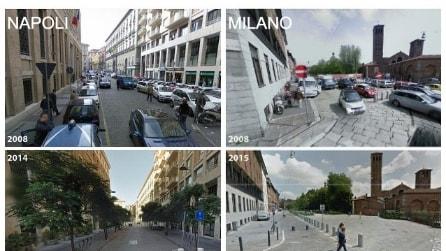 Le città prima e dopo: ecco la differenza