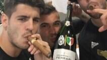 Dal sigaro di Morata al selfie di Cuadrado, le foto sui profili social dei calciatori della Juventus