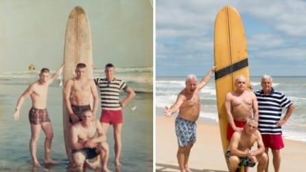 Si incontrano dopo 50 anni: 4 marines scattano la stessa foto ricordo