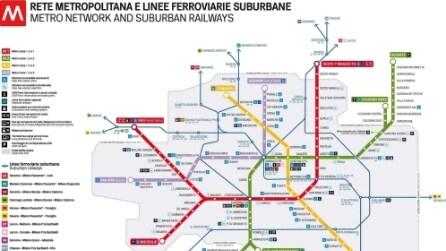 Le mappe della metropolitana di Milano