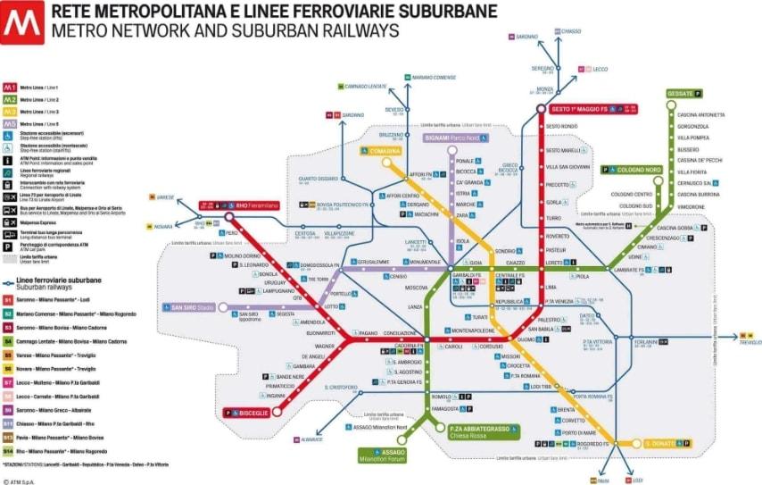 Cartina Milano Con Metro.Le Mappe Della Metropolitana Di Milano