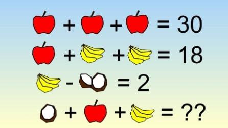 Il rompicapo con la frutta: riuscite a risolvere l'addizione?