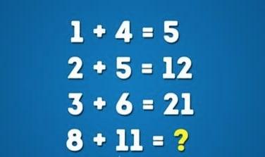 Se infatti si fa una somma dei numeri, aggiungendo poi il risultato precedenti, avremo come soluzione finale il 40. 1+4=5, 2+5 + (il 5 del risultato precedente) = 12, 3+6 + (il 12 del risultato precedente) = 21, 8 + 11 + (il 21 del risultato precedente) 40.