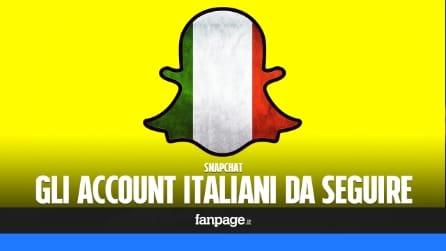 Snapchat, gli account italiani da seguire