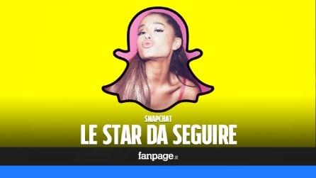 Snapchat, tutte le star da seguire