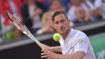 Totti e la Roma in campo agli Internazionali di tennis