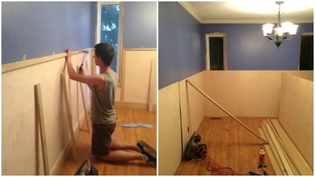 Prende dei pannelli di legno e li fissa al muro: il risultato vi sorprenderà