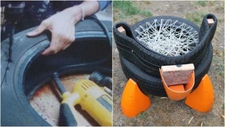 Come riciclare un vecchio pneumatico per creare un'originale sedia da giardino