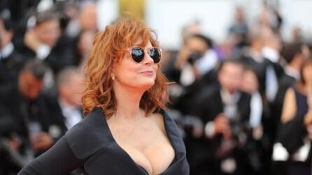Susan Sarandon,spacco e maxi scollatura a Cannes 2016