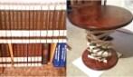 Come trasformare una vecchia libreria in un tavolo di design