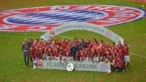 Bundesliga, i festeggiamenti del Bayern Monaco