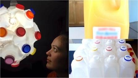 Come fare un lampadario a sospensione con bottiglie di plastica