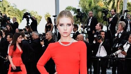 Kate e Lottie Moss meravigliose in rosso al Festival di Cannes