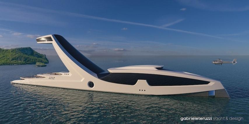 """Sheddai è il nome del nuovo yacht super lusso che in lingua ebraica significa """"Onnipotente"""" perché l'onnipotenza è la sensazione che si avverte stando fermi a guardare il mondo dalla cabina sospesa."""