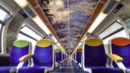 I treni in Francia si trasformano in mostre d'arte in movimento