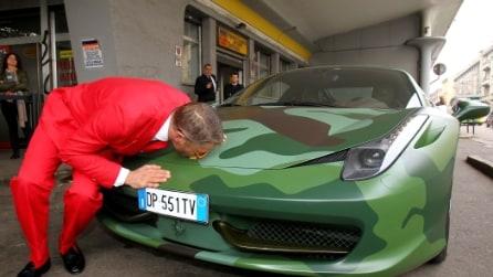 Lapo Elkann mette all'asta la sua Ferrari Camouflage