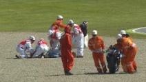 MotoGp Mugello, brutta caduta per Tito Rabat: clavicola fratturata