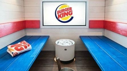 Ecco la prima sauna Burger King al mondo