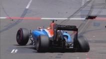 F1 Monaco, Grosjean e Haryanto a muro nella FP2