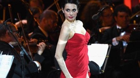 Rossella Brescia sexy ballerina alla Bocelli & Zanetti Night