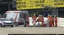 Moto2 Montmelò, brutta caduta per Salom nelle libere 2