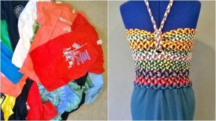 Come riciclare delle vecchie magliette e realizzare un originale vestito estivo