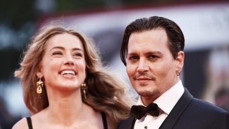Le foto di Johnny Depp e Amber Heard