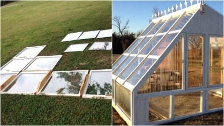 Come riciclare vecchie finestre: l'idea per costruire un'originale serra da giardino
