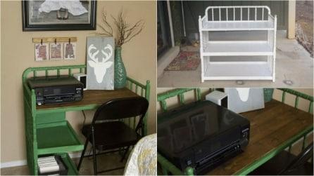 Come trasformare un fasciatoio in una scrivania di design