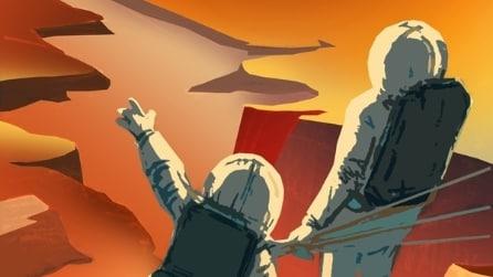 """""""Cercasi esploratori per Marte"""", i poster retrò della Nasa"""