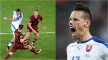 Euro 2016, gol spaventoso di Hamsik: esultanza rabbiosa del capitano del Napoli