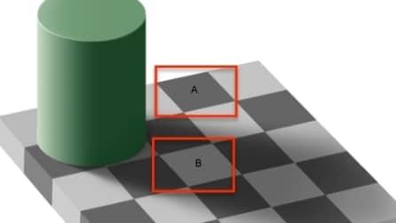 I quadrati sono dello stesso colore? L'illusione ottica che ti sorprenderà