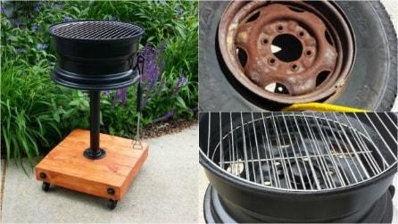 Come riciclare vecchi cerchioni per costruire un originale barbecue fai da te