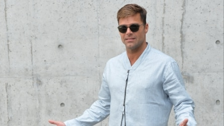 Ricky Martin e Kevin Spacey alla Milano Fashion Week