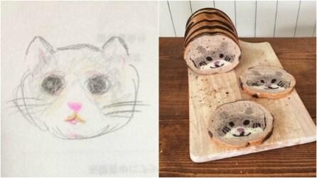 Panettiere prende i disegni del figlio e crea qualcosa di unico: le sue opere vi stupiranno